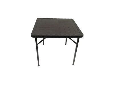 SQU002- Square Plastic Table (Black Rattan)-Tables-Moolla Furniture Corp CC