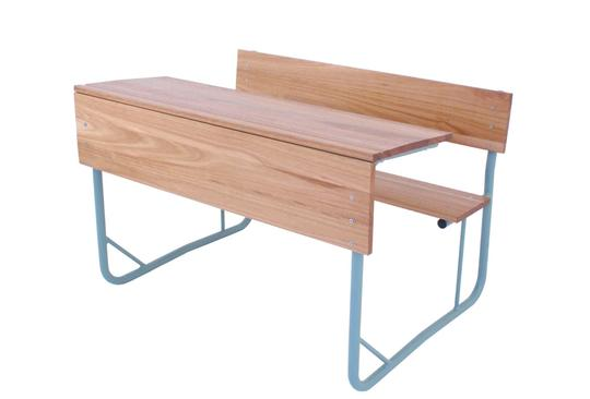 SCH18 - SALIGNA Senior Double Combination School Desk (1200mm x 400 x 750mmhigh)-School Furniture-Moolla Furniture Corp CC