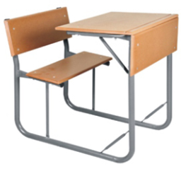 SCH008 - SUPAWOOD Senior Single Combination School Desk (600mm x 400 x 750mmhigh)-School Furniture-Moolla Furniture Corp CC