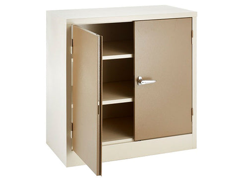 STA002 - Stationery Cupboaard (900H X 900W X 450D 2 Shelves)-Steel Furniture-Moolla Furniture Corp CC
