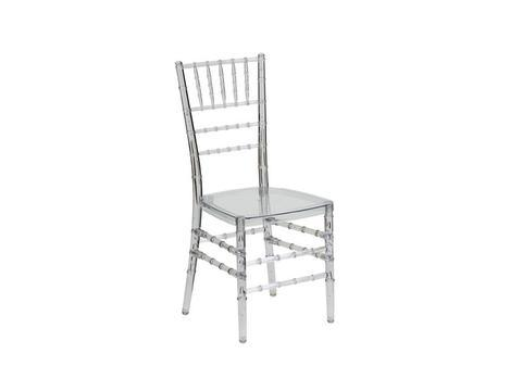 TIF001 - Tiffany Chair- Senior Resin (Clear)-Plastic Chairs-Moolla Furniture Corp CC
