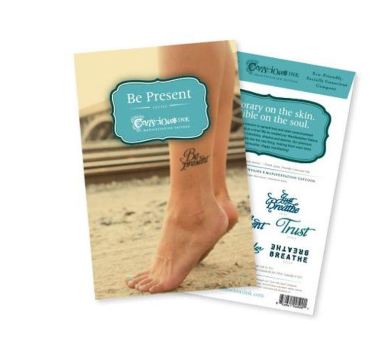 Carry Your Message - Conscious Ink Be Present Intention Pack