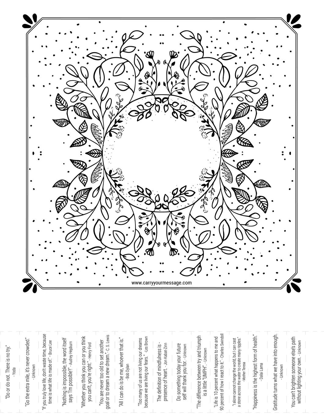 Free CYM Floral Art with Quotes & Blanks