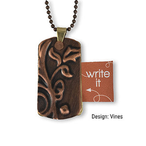 Carry Your Message meaningful message copper jewelry