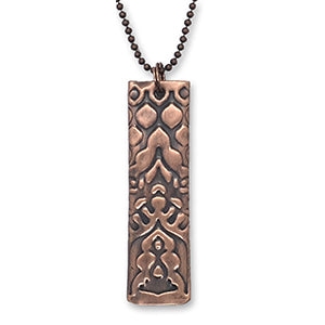 CYM Necklace with Embossed Copper Pendant