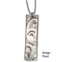 Sterling Silver Embrace Necklace with Embossed Pendant (CYM)
