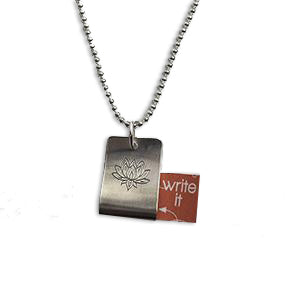 Carry Your Message Sterling Silver Meaningful Message Necklace