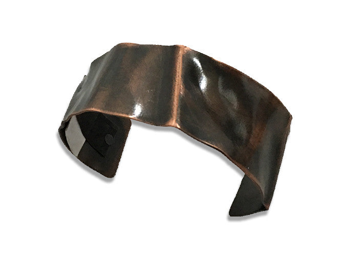 Carry You Message Fold Form Copper Cuff