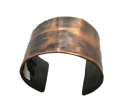 Carry You Message Folded Copper Cuff