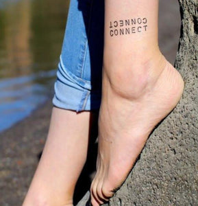 Carry Your Message - Conscious Ink Connect Connect Temporary Tattoo