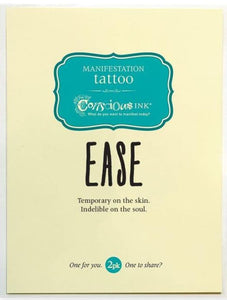 Carry Your Message - Conscious Ink Ease Temporary Tattoo