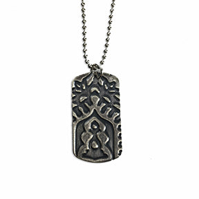 Sterling Silver Dog Tag Necklace