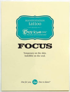 Carry Your Message - Conscious Ink Focus Temporary Tattoo