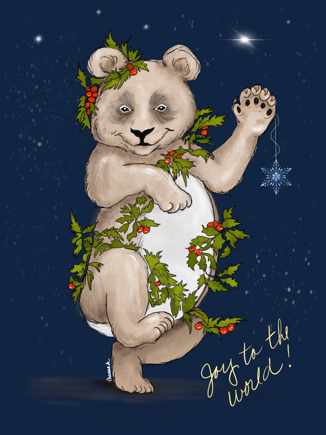 Holiday Bear Digital Print