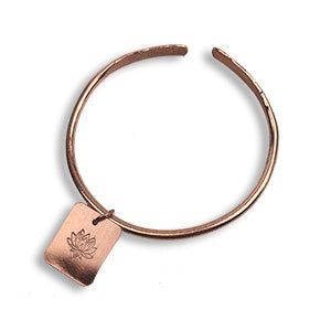 CYM Copper Lotus charm bangle