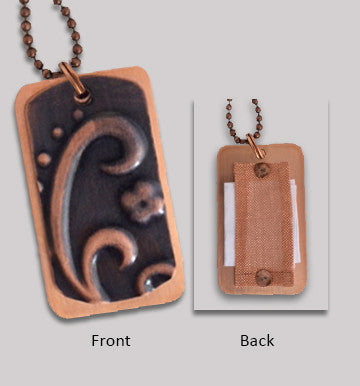 Carry Your Message® Copper Dog Tag Necklace