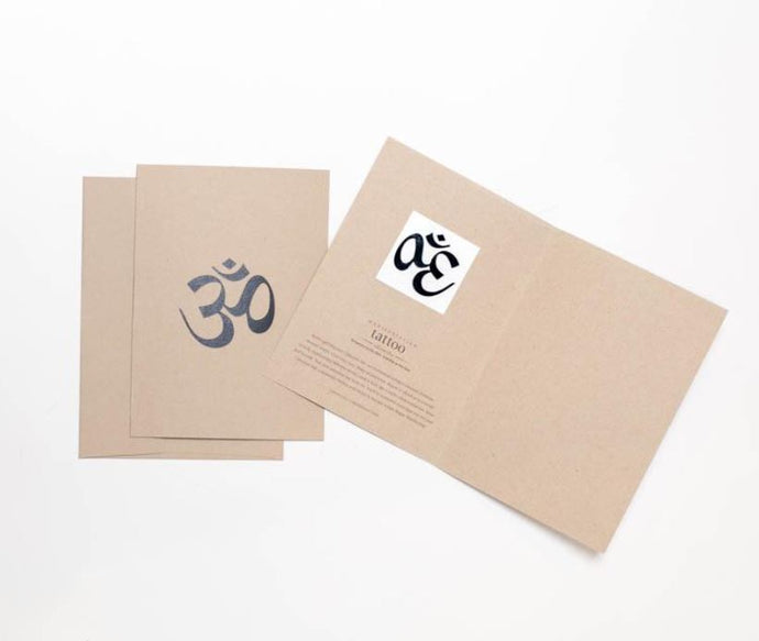 Carry Your Message - Conscious Ink Om (Sanskrit) Card and Tattoo