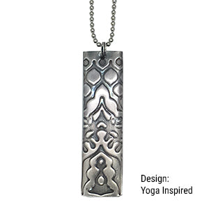 CYM Sterling Silver Necklace with Embossed Pendant