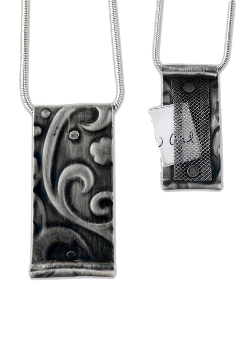 CYM Sterling Silver Scroll Pendant