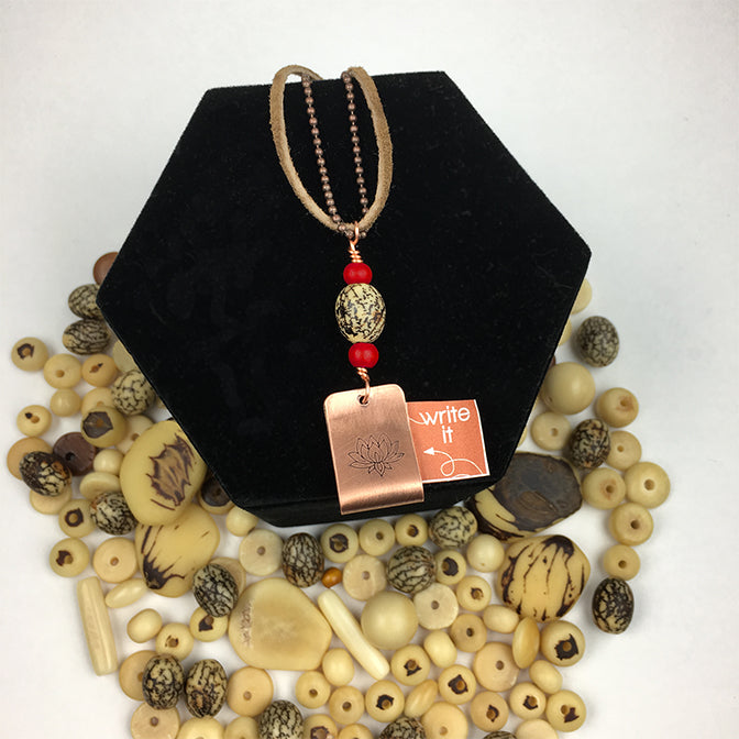 CYM Tagua and Copper Holder Necklace