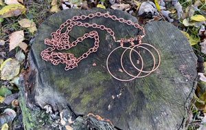 Tri-Hoop Copper Necklace