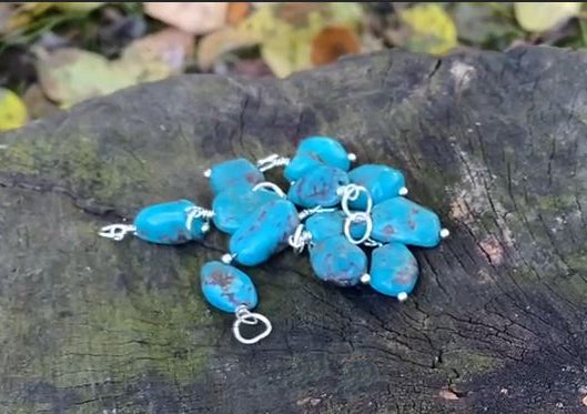 Turquoise Gemstone Charms