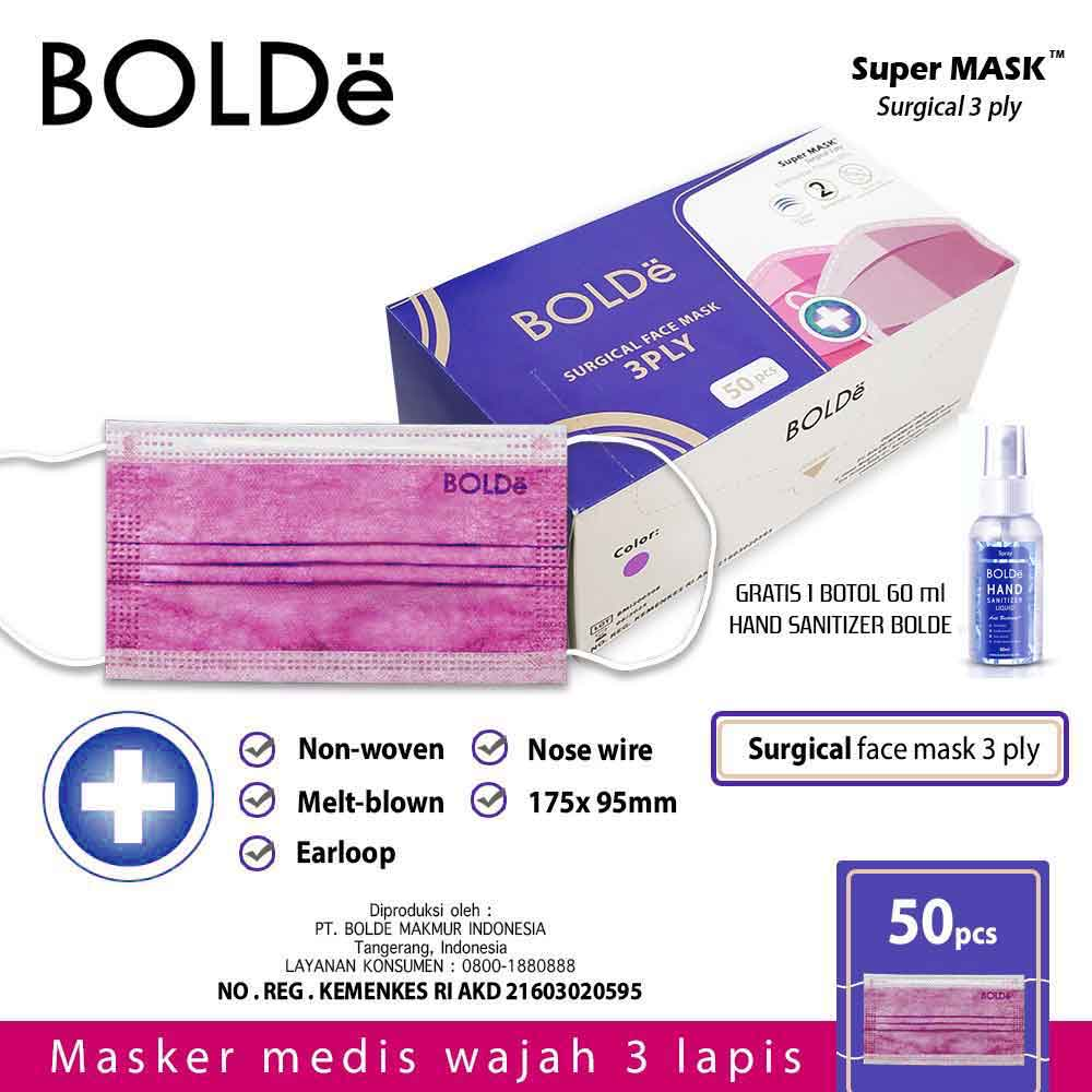 a Super Mask / Masker Medis Anti Virus 3 Ply ( 50 pcs )