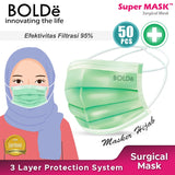a Super Mask / Masker Hijab Medis Anti Virus 3 Ply ( 50 pcs )
