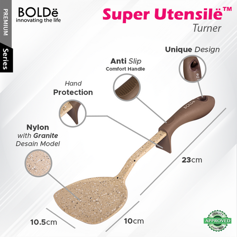 Super UTENSILE Granite Series SPATULA / TURNER Beige