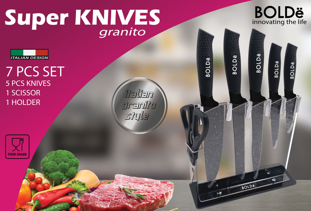 Super KNIVES GRANITO 7pcs set Italian Design