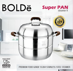 Super PAN SS 304 Stainless Steel STEAMER