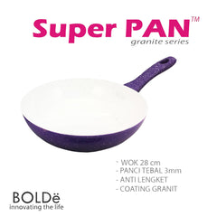 WOK ( WAJAN ) 28 cm, Granite Purple Series