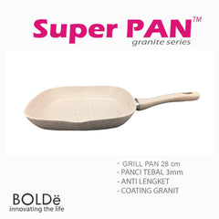 GRILL PAN 28 cm, Granite Beige Series