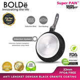 Fry Pan 22 CM Granite BLACK DARK KNIGHT