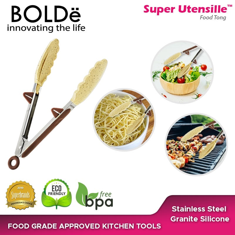 Super UTENSILE Granite Series FOOD TONG 9 inch