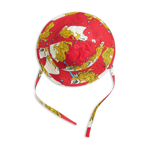 Mini Rodini Unicorn star sun hat