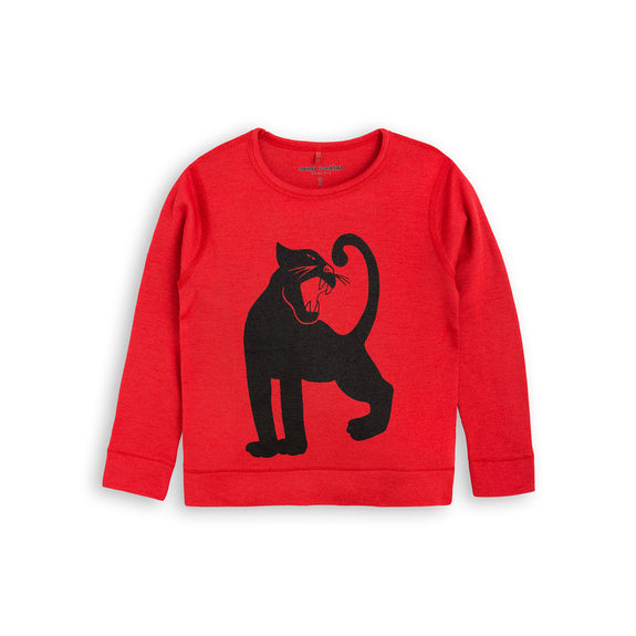 mini rodini aw17 rød red merinould black sort panther panter
