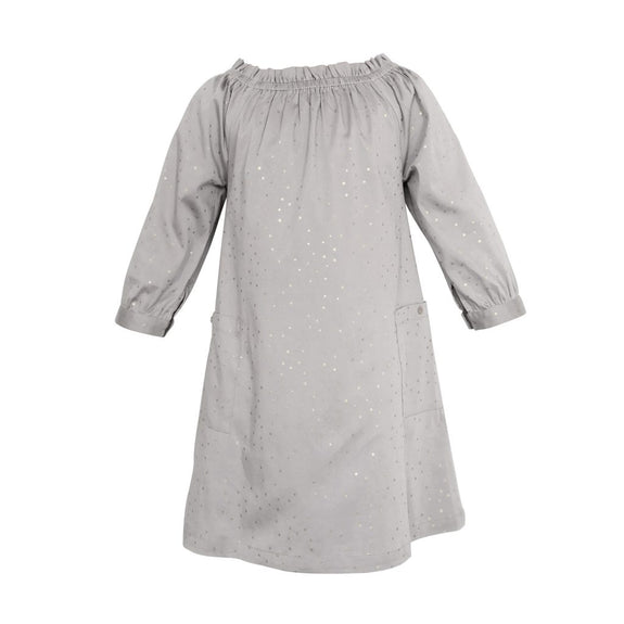 elodiee Marie Dress i Økologisk Bomuld, True Grey