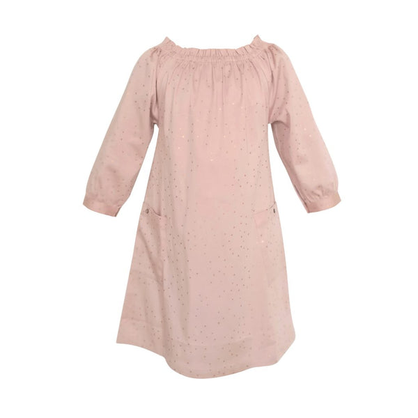 elodiee Marie Dress i Økologisk Bomuld, Rose Gold