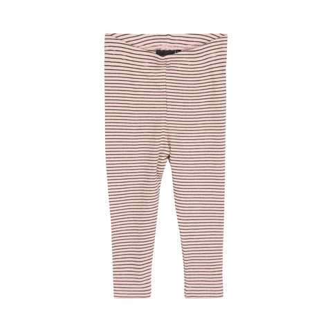 Petit by Sofie Schnoor basic leggins stripes cameo rose og black