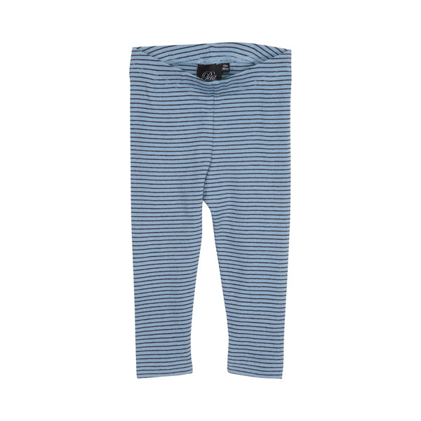 Petit by Sofie Schnoor leggins mist black stripes striber sort blå elastik rib aw17