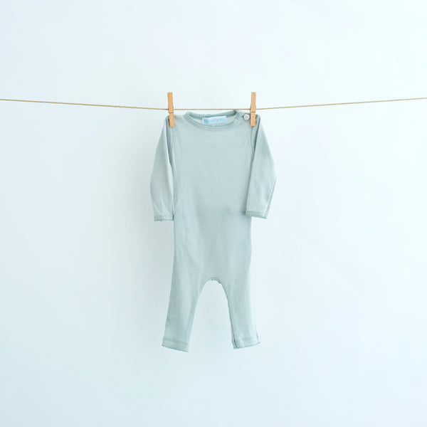 Lilli & Leopold bodysuit heldragt i metal-light blue