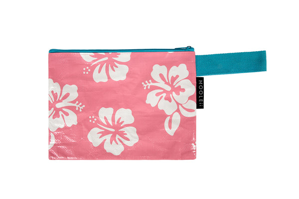 Blush Hibiscus Beach Zip Wallet