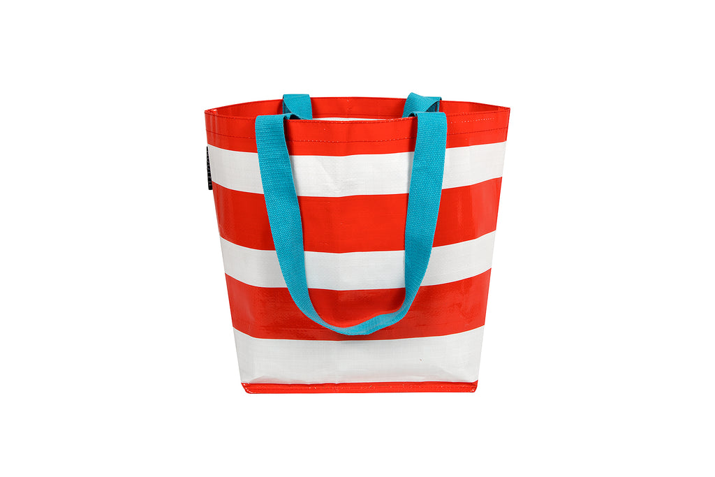 Red Stripe Small Tote
