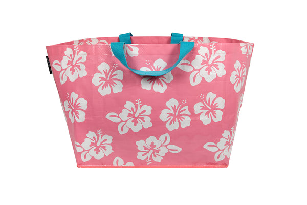 Blush Hibiscus Large Tote