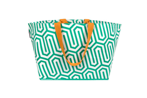 Green Geo Large Tote