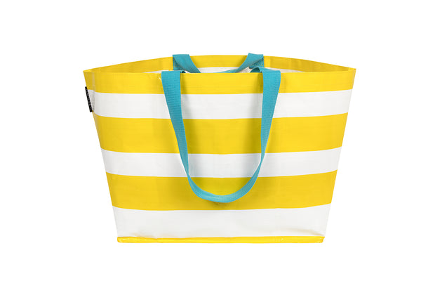 Yellow Stripe Large Tote