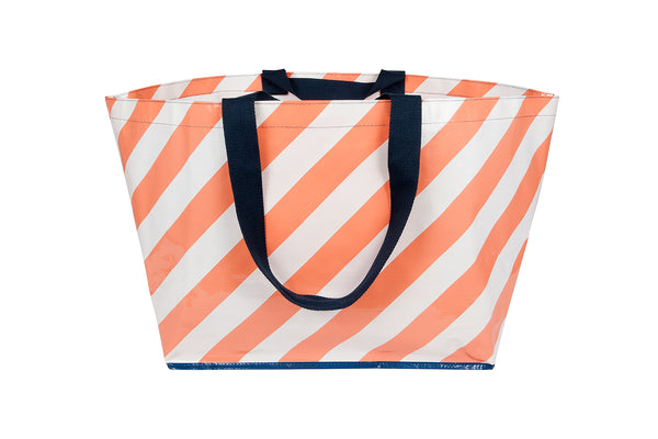 Peachy Striped Tote (Large)