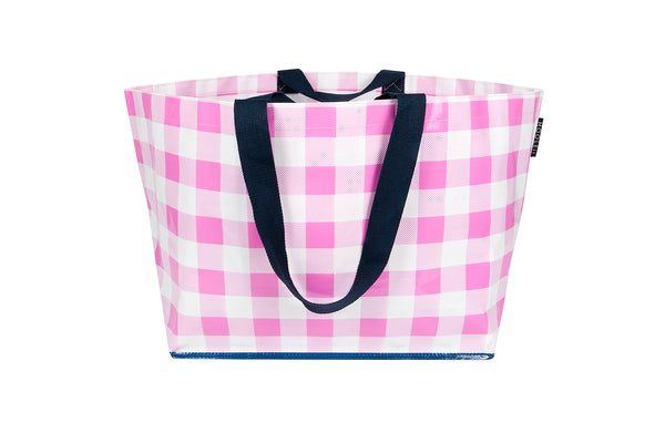 Pretty In Pink Gingham Tote (Large) LOW STOCK