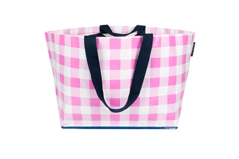 Pretty In Pink Gingham Tote (Large)